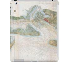 Vintage Map of Beaufort Harbor SC (1857) iPad Case/Skin
