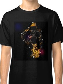 Young blond woman with binoculars Classic T-Shirt