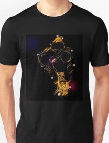 Young blond woman with binoculars Unisex T-Shirt