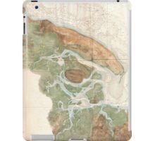 Vintage Map of Ipswich and Annisquam Harbor (1857) iPad Case/Skin