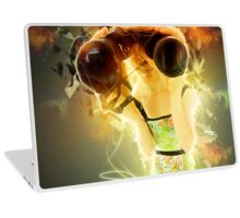 Young blond woman with binoculars  Laptop Skin