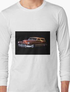 1950 Buick Custom Woody Wagon Long Sleeve T-Shirt