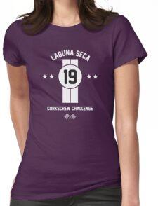 Laguna Seca - White Womens Fitted T-Shirt