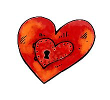 Metal heart Photographic Print