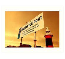 Welcome To Fremantle Art Print