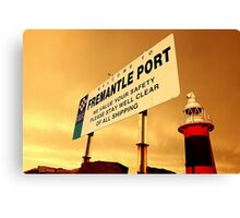 Welcome To Fremantle Canvas Print