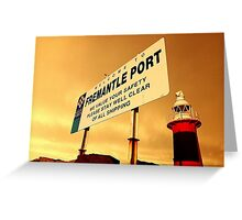 Welcome To Fremantle Greeting Card
