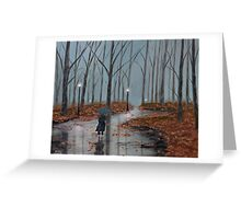 A Dreary Autumn Evening Greeting Card