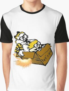 Let's Go Calvin And Hobbes Graphic T-Shirt