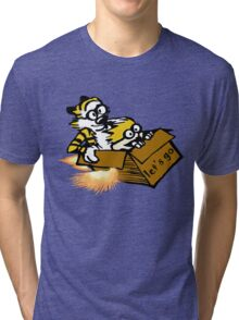 Let's Go Calvin And Hobbes Tri-blend T-Shirt