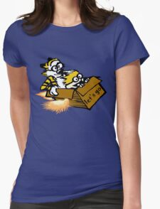 Let's Go Calvin And Hobbes Womens Fitted T-Shirt