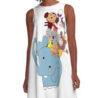 Animales para niños A-Line Dress