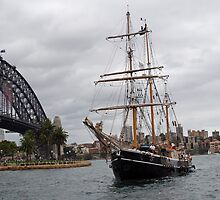 The Tall Ship & Sydney Harbour Bridge by Adrian Paul