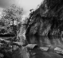 Rydal Cave Mono by Mark Haynes Photography