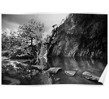 Rydal Cave Mono Poster