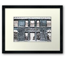 City Market in blue Framed Print