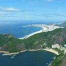 Copacabana Beach from Sugar Loaf Mountain by Tom Carswell