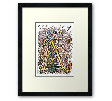 """The Illustrated Alphabet Capital  A  """"Getting personal"""" Framed Print"""