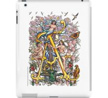 "The Illustrated Alphabet Capital  A  ""Getting personal"" iPad Case/Skin"
