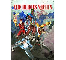 The Heros Within (With Colour Background) Photographic Print