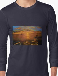Florida Key's Sunset Dinner Long Sleeve T-Shirt