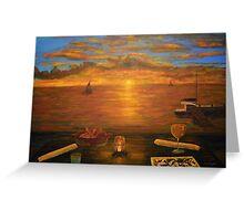 Florida Key's Sunset Dinner Greeting Card