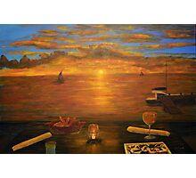 Florida Key's Sunset Dinner Photographic Print
