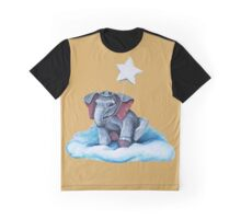 Royal Blue Elephant Graphic T-Shirt