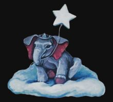 Royal Blue Elephant One Piece - Long Sleeve