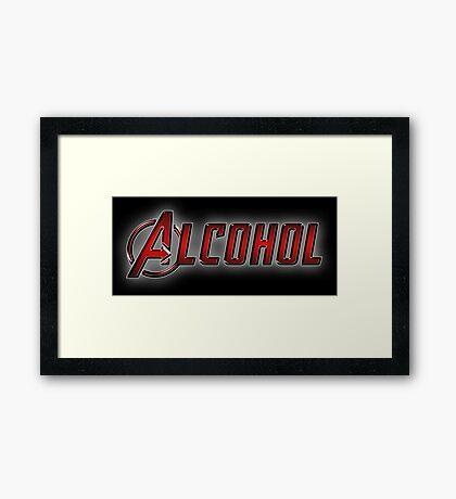 Avengers - Alcohol Framed Print