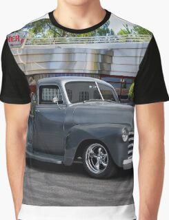 1953 Chevrolet 3100 Custom Pickup 'At Bert's Diner' Graphic T-Shirt