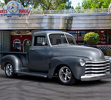 1953 Chevrolet 3100 Custom Pickup 'At Bert's Diner' by DaveKoontz