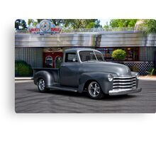 1953 Chevrolet 3100 Custom Pickup 'At Bert's Diner' Canvas Print