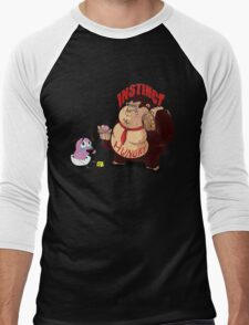 Greedy Gorilla And The Cry Baby Courage Dog Men's Baseball ¾ T-Shirt