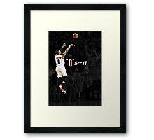 """Damian Lillard - """"0"""" S**T! Framed Print"""
