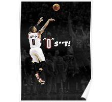 """Damian Lillard - """"0"""" S**T! Poster"""