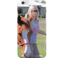 Girl and her Horse iPhone Case/Skin