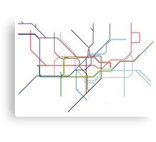 Minimal Tube Map Metal Print