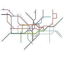 Minimal Tube Map Photographic Print