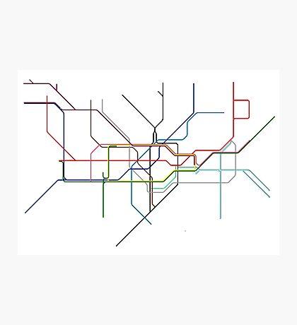 Minimal Tube Map Photographic Print