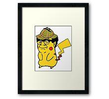 Pokemon: Danny Devito Detective Pikachu Framed Print