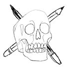 I Like Drawing Skulls by terry springett
