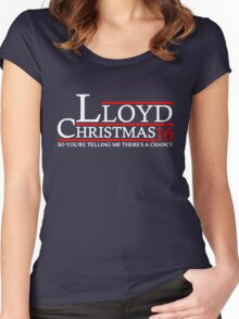 LLOYD CHRISTMAS 2016 DUMB AND DUMBER Women's Fitted Scoop T-Shirt