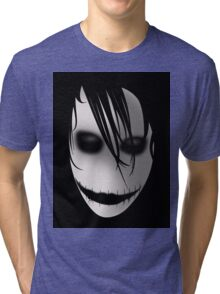 Scary Blurry Face Tri-blend T-Shirt