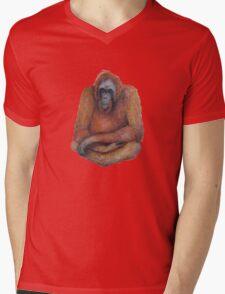 Wild Orangutan Drawing Mens V-Neck T-Shirt