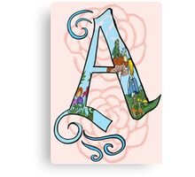 A is for Alice in Wonderland Canvas Print