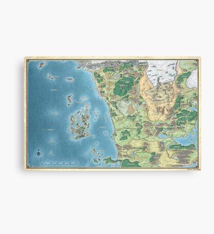 Map of the sword coast Canvas Print