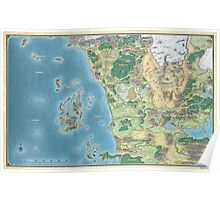 Map of the sword coast Poster