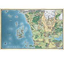 Map of the sword coast Photographic Print
