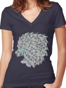 Snow lion  Women's Fitted V-Neck T-Shirt